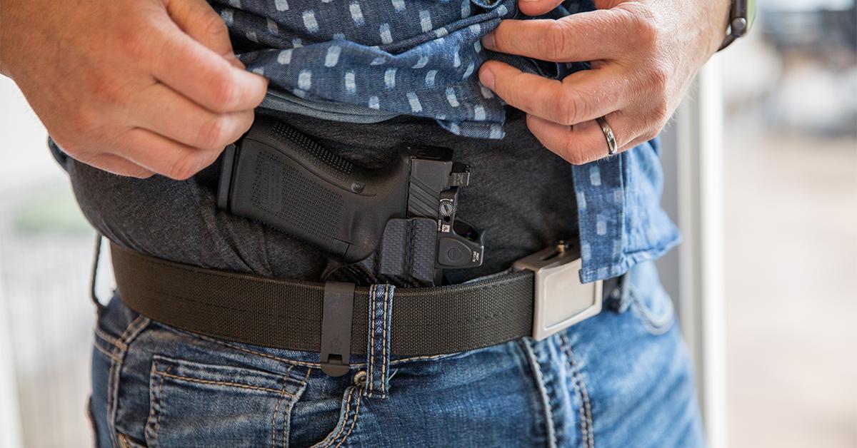 edc belt with pistol
